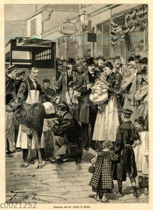 Impfung auf der Straße in Paris
