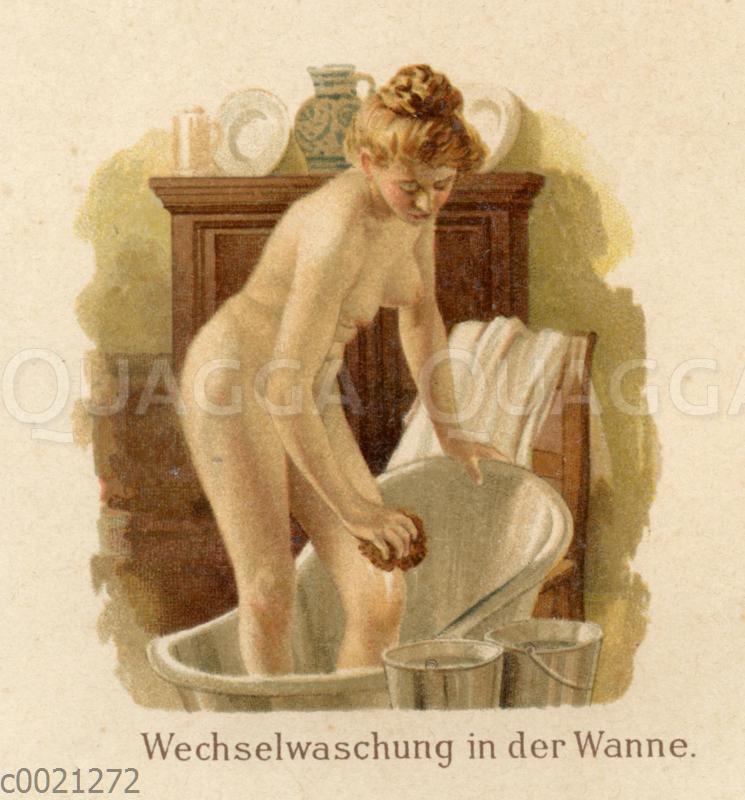 Wasserwendungen in der Krankenpflege: Wechselwaschung in der Wanne