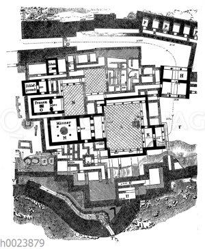 Grundriss des Palastes von Tiryus