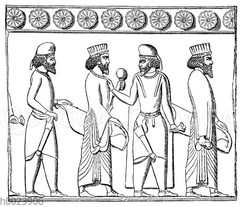 Gabenbringer. Relief von Persepoli