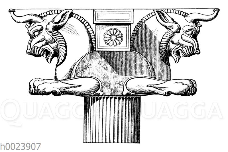 Einhorn-Kapitell vom Xerxessaal in Persepolis