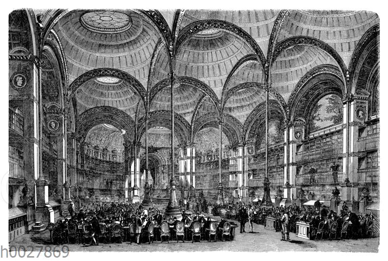 Saal der ehemaligen kaiserlichen Bibliothek in Paris