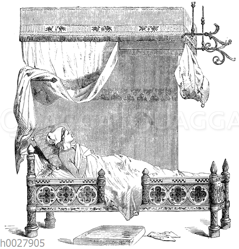 Mittelalterliches Bett