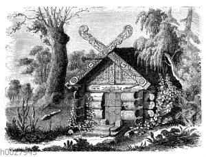 Grabhütte in Ostsibirien