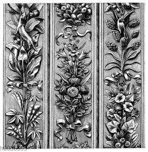 Ornamente an der nördlichen Erztür des Baptisteriums in Florenz