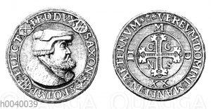 Medaillenartiger Taler von Friedrich dem Weisen