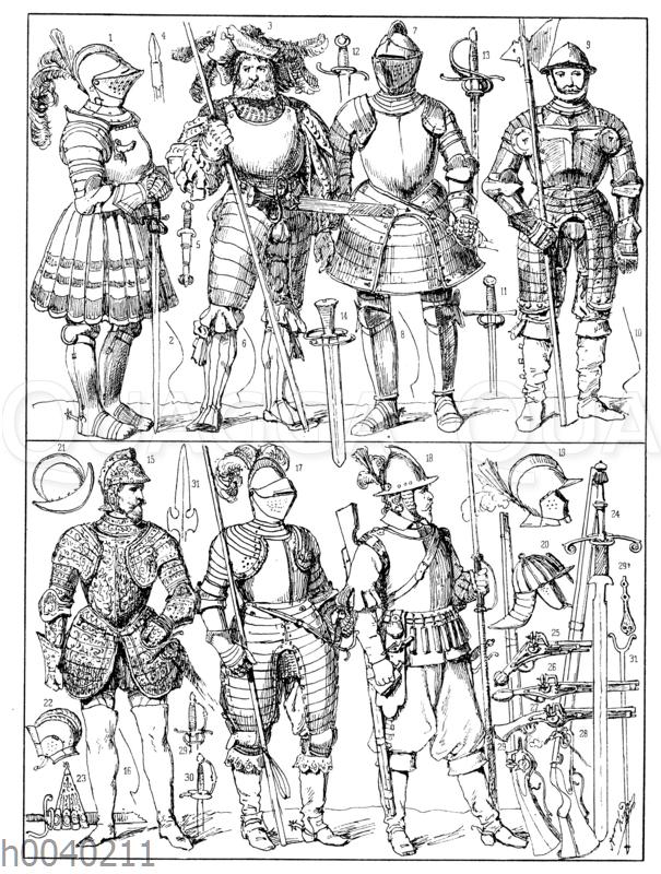 Schutz- und Trutzwaffen des sechszehnten und siebzehnten Jahrhunderts