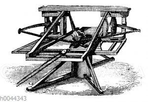 Schleudermaschine für Steine