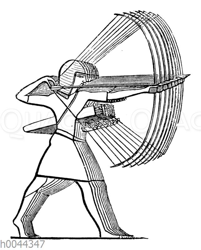 Ägyptische Bogenschützen