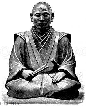 Holzstatue des Shogun Hideyoshi