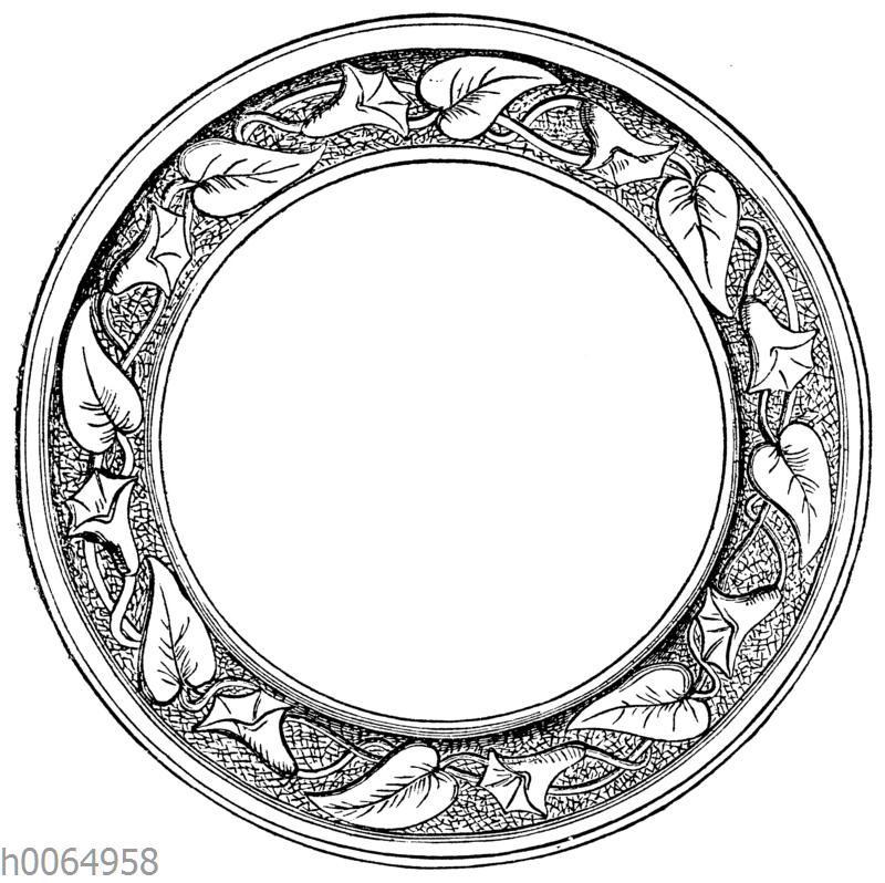 Kreisförmiges Ornament mit Ackerwinde