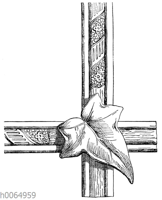 Ornament: Rahmen mit Efeublatt