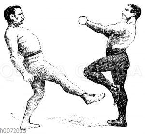 Boxen: Low Kick und Beinausweichen