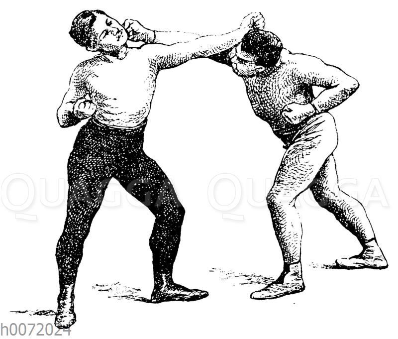 Boxen: Linkes Körperausweichen mit rechtem Arm Stopptreffer