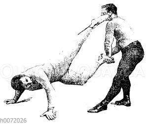 Boxen: Beinhalten und Parieren des Rückstoßes