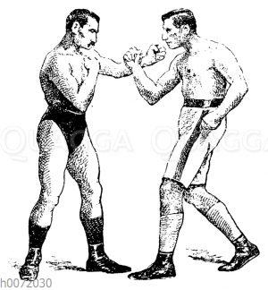 Boxen: Finte des Faustschlages zum Gesicht