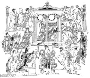 Antike Darstellung der 'Medea'