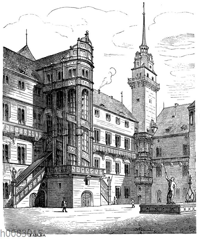 Ostflügel des Schlosses in Torgau
