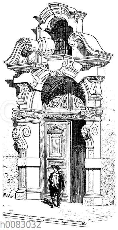 Portal eines Hauses in Antwerpen
