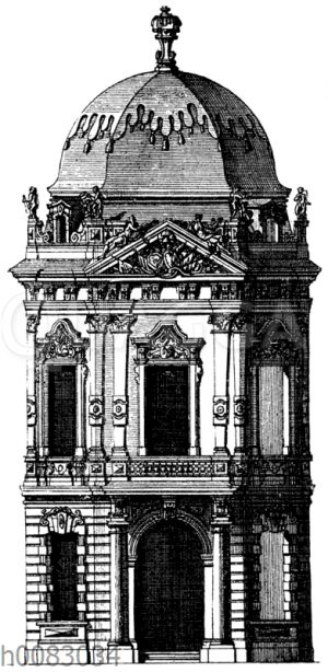 Eckpavillon vom Belvedere in Wien
