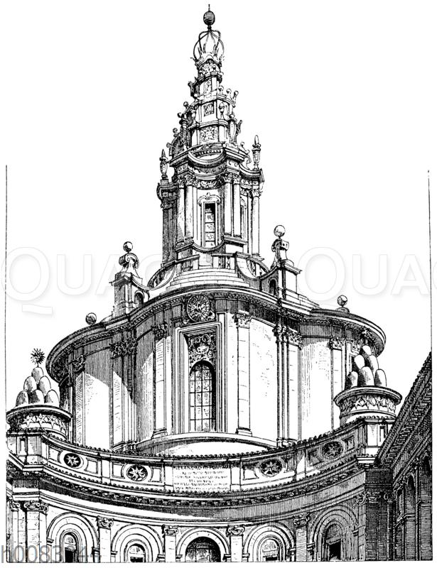 Kuppel der Kirche S. Iva (Spienza) in Rom