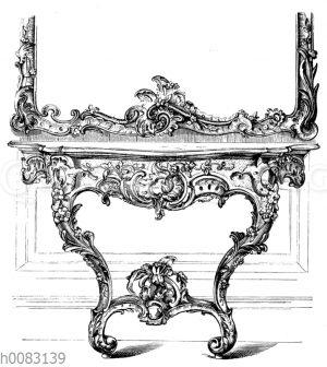 Spiegeltisch aus dem Kurländischen Palais zu Dresden