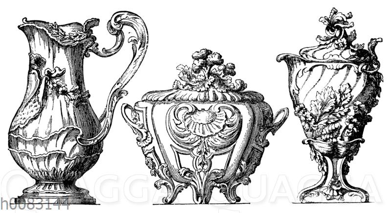 Silberne Tafelgefäße von Pierre Germain