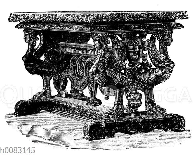 Tisch aus Nussbaumholz
