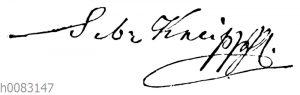 Sebastian Kneipp: Unterschrift