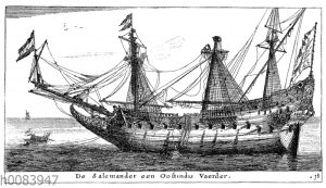 Schiffstyp eines holländischen Ostindienfahrers
