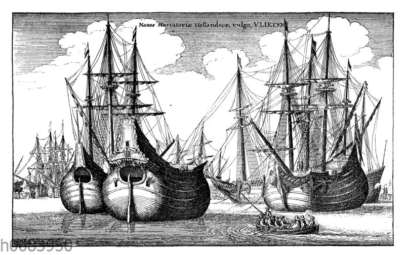 Holländische Handelsschiffe im Hafen