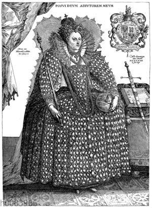 Porträt der Königin Elisabeth im Regierungornat