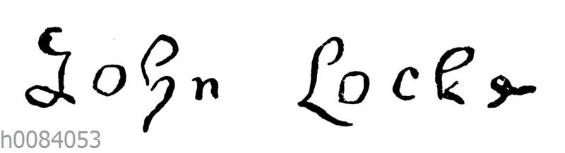 John Locke: Unterschrift