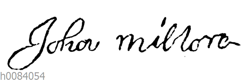 John Milton: Autograph