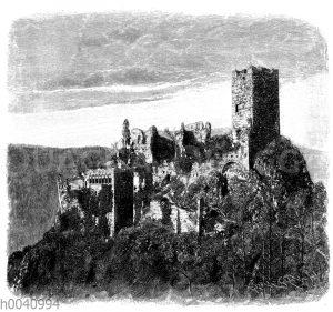 Ruinen der St. Ulrichsburg bei Rappoltsweiler im Ober-Elsass