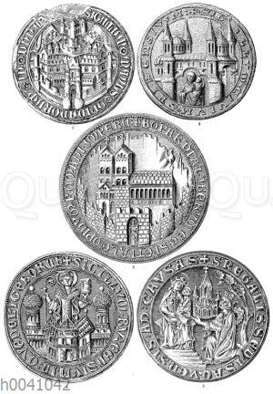 Mittelalterliche Städtesiegel aus dem 13. bis 15. Jahrhundert